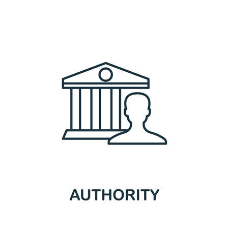 Authority outline icon. Thin line concept element from content icons collection. Creative Authority icon for mobile apps and web usage.