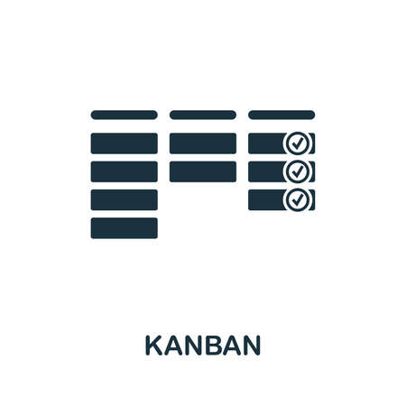 Kanban icon illustration. Creative sign from agile icons collection. Filled flat Kanban icon for computer and mobile.