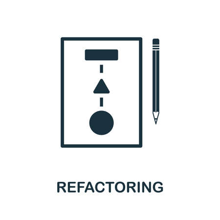Refactoring icon illustration. Creative sign from agile icons collection. Filled flat Refactoring icon for computer and mobile. Imagens
