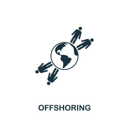 Offshoring icon. Creative element design from business strategy icons collection. Pixel perfect Offshoring icon for web design, apps, software, print usage Stockfoto