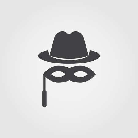 Anonymity flat icon. Monochrome creative design from blockchain icons collection. Simple sign illustration anonymity icon for mobile and web usage