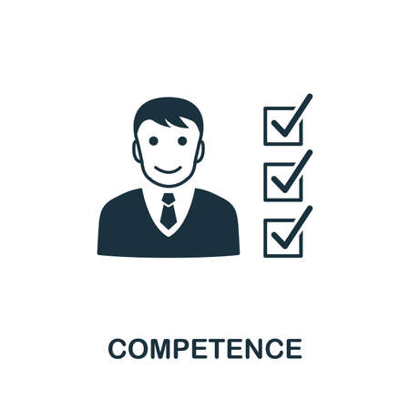 Competence icon illustration. Creative sign from business management icons collection. Filled flat Competence icon for computer and mobile. Stockfoto