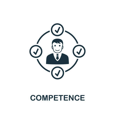Competence icon illustration. Creative sign from business management icons collection. Filled flat Competence icon for computer and mobile Stockfoto