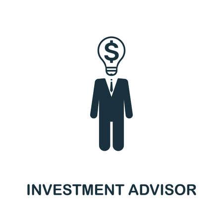 Investment Advisor icon illustration.