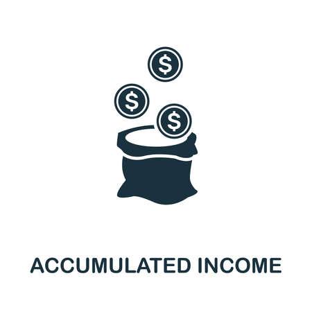 Accumulated Income icon illustration. Иллюстрация
