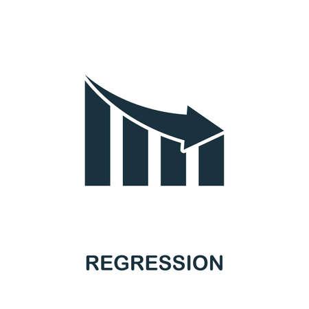 Regression icon illustration