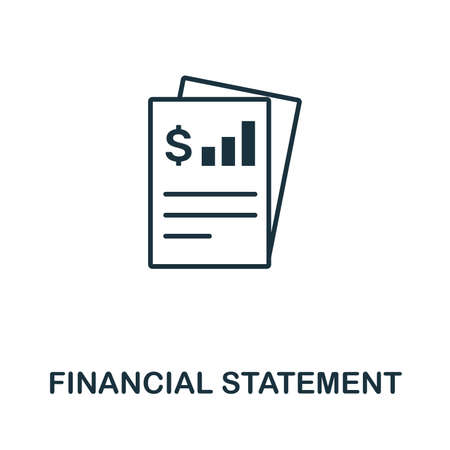 Financial Statement icon illustration.