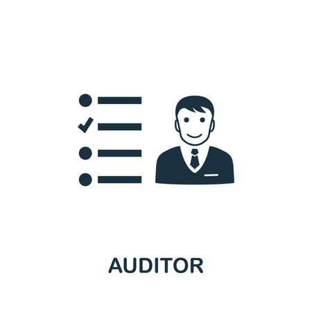 Auditor icon illustration. Creative sign from investment icons collection.