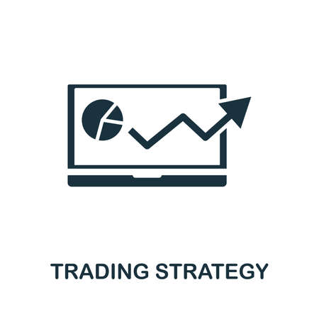 Trading Strategy icon illustration. Creative sign from investment icons collection. Filled flat Trading Strategy icon for computer and mobile.