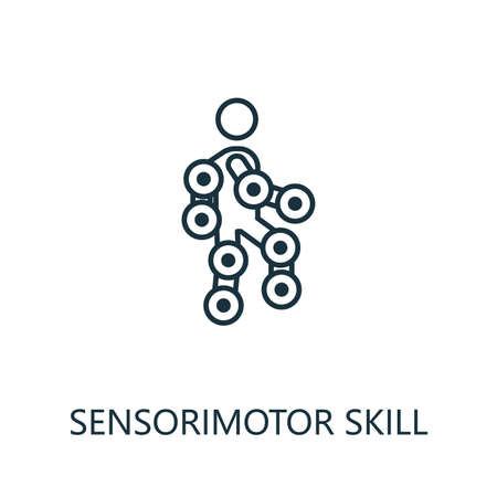 Sensorimotor Skill thin line icon. Creative simple design from artificial intelligence icons collection. Outline sensorimotor skill icon for web design and mobile apps usage. Ilustrace