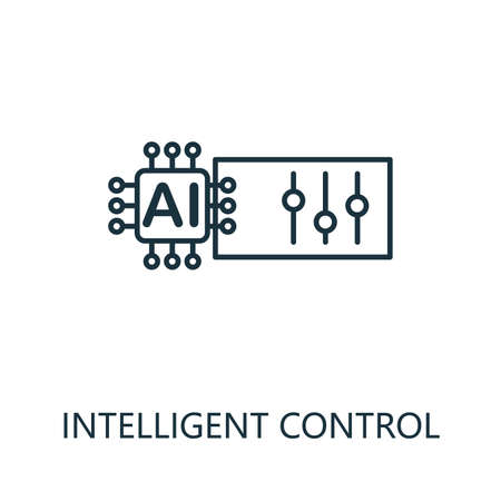 Intelligent Control thin line icon. Creative simple design from artificial intelligence icons collection. Outline intelligent control icon for web design and mobile apps usage.