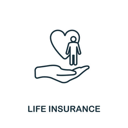 Life Insurance outline icon. Thin line style icons from insurance icons collection. Web design, apps, software and printing usage simple life insurance icon.