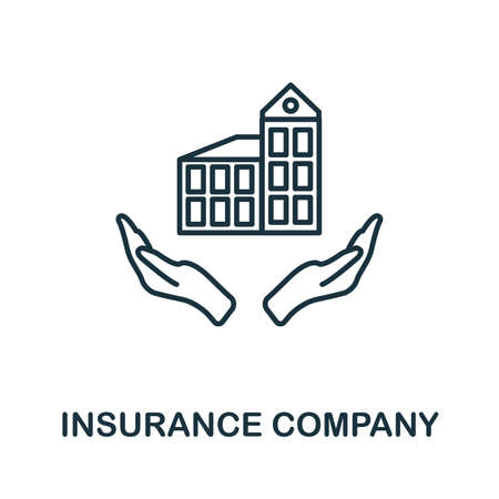 Insurance Company outline icon. Thin line style icons from insurance icons collection. Web design, apps, software and printing usage simple insurance company icon.