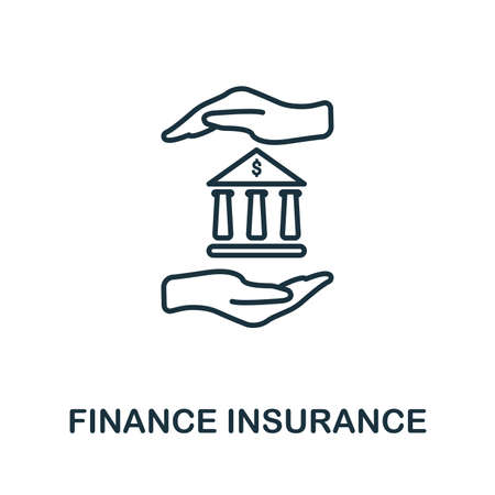 Finance Insurance outline icon. Thin line style icons from insurance icons collection. Web design, apps, software and printing usage simple finance insurance icon.