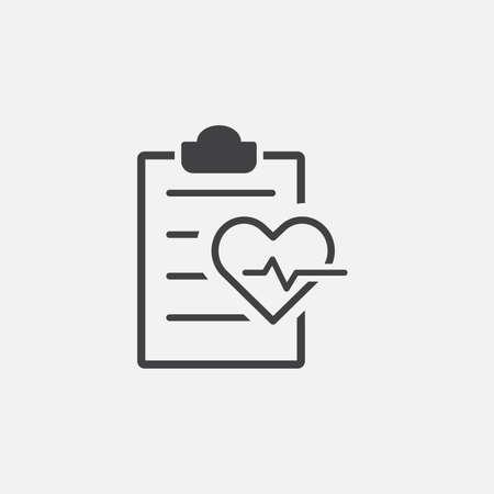 Health Check glyph icon. Monochrome style design simple element. Black color health check icon for web and mobile. Healthcare collection.