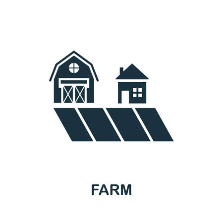 Farm icon illustration. Creative sign from icons collection. Filled flat Farm icon for computer and mobile.
