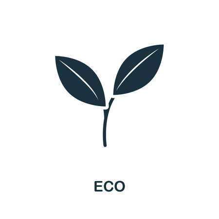 Eco icon illustration. Creative sign from farm icons collection. Filled flat Eco icon for computer and mobile.