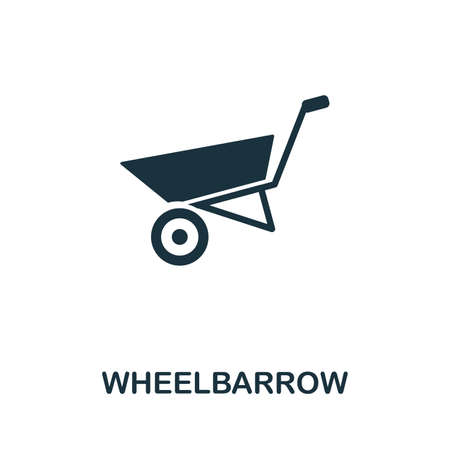 Wheelbarrow icon illustration. Creative sign from farm icons collection. Filled flat Wheelbarrow icon for computer and mobile. 版權商用圖片