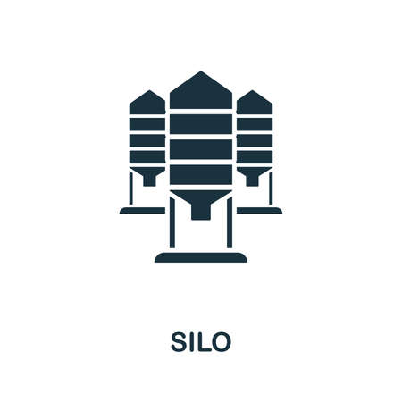 Silo icon illustration. Creative sign from farm icons collection. Filled flat Silo icon for computer and mobile. Stockfoto