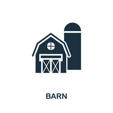 Barn icon illustration. Creative sign from farm icons collection. Filled flat Barn icon for computer and mobile. Zdjęcie Seryjne