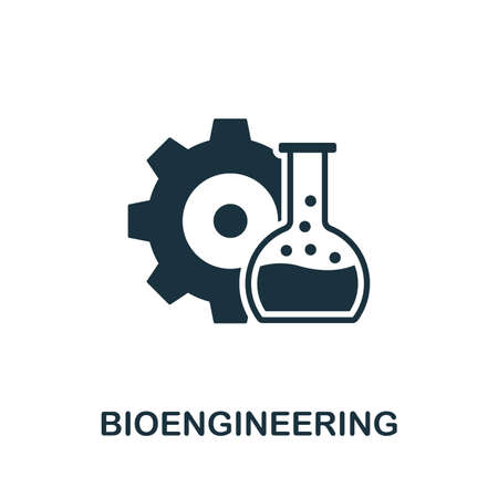 Bioengineering vector icon illustration. Creative sign from science icons collection. Filled flat Bioengineering icon for computer and mobile.