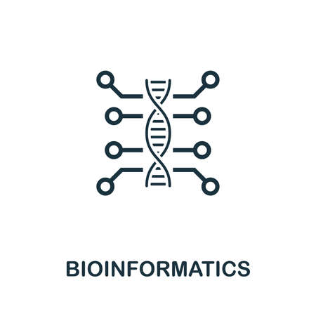 Bioinformatics vector icon illustration. Creative sign from science icons collection. Filled flat Bioinformatics icon for computer and mobile. Symbol, vector graphics.