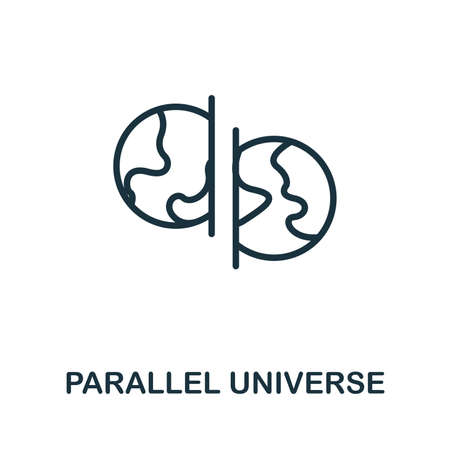 Parallel Universe vector icon illustration. Creative sign from science icons collection. Filled flat Parallel Universe icon for computer and mobile. Symbol, vector graphics.