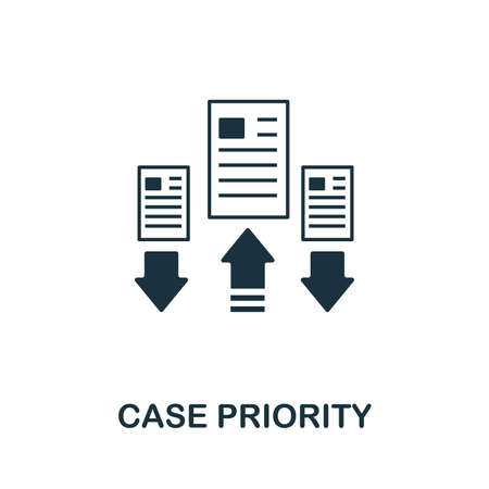 Case Priority icon illustration. Creative sign from icons collection. Filled flat Case Priority icon for computer and mobile. Symbol, graphics.