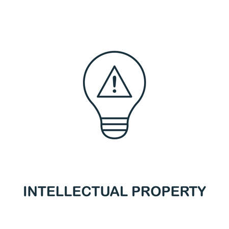 Intellectual Property outline icon. Thin line element from crowdfunding icons collection. UI and UX. Pixel perfect intellectual property icon for web design, apps, software, print usage. Stock Photo - 128204665