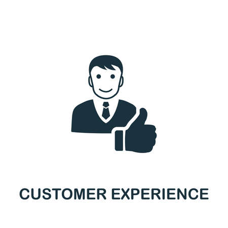 Customer Experience icon illustration. Creative sign from icons collection. Filled flat Customer Experience icon for computer and mobile. Symbol, graphics. Foto de archivo