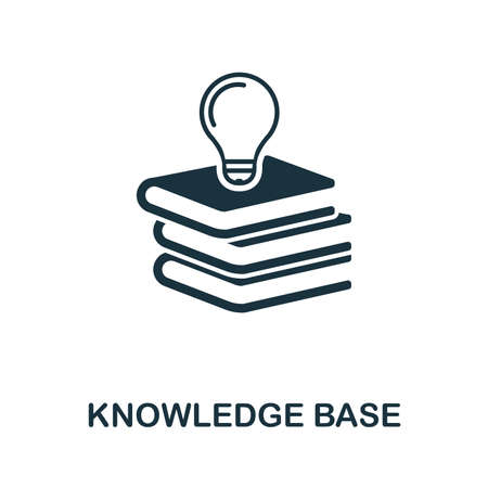 Knowledge Base icon illustration. Creative sign from icons collection. Filled flat Knowledge Base icon for computer and mobile. Symbol, graphics.
