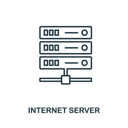 Internet Server icon outline style. Simple glyph from icons collection. Line Internet Server icon for web design and software