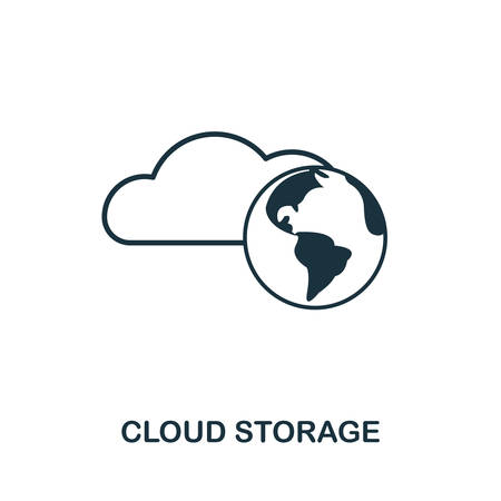 Cloud Storage icon outline style. Simple glyph from icons collection. Line Cloud Storage icon for web design and software  イラスト・ベクター素材