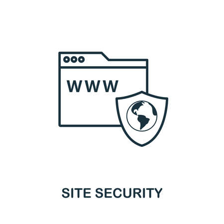 Site Security icon outline style. Simple glyph from icons collection. Line Site Security icon for web design and software