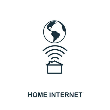 Home Internet icon outline style. Simple glyph from icons collection. Line Home Internet icon for web design and software Ilustracja