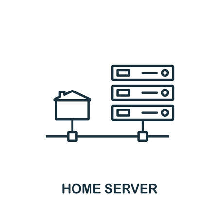 Home Server icon outline style. Simple glyph from icons collection. Line Home Server icon for web design and software