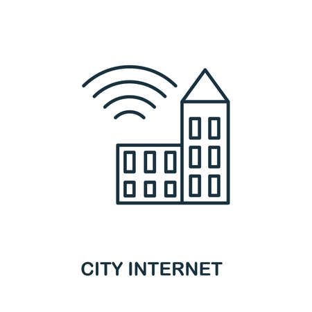 City Internet icon outline style. Simple glyph from icons collection. Line City Internet icon for web design and software