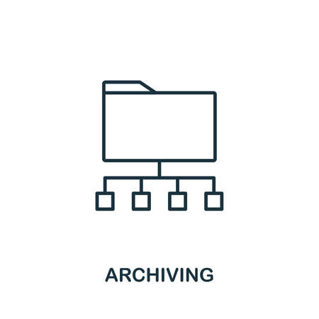Archiving icon outline style. Simple glyph from icons collection. Line Archiving icon for web design and software