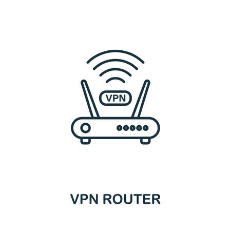 Vpn Router icon outline style. Simple glyph from icons collection. Line Vpn Router icon for web design and software  イラスト・ベクター素材