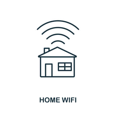 Home Wifi icon outline style. Simple glyph from icons collection. Line Home Wifi icon for web design and software
