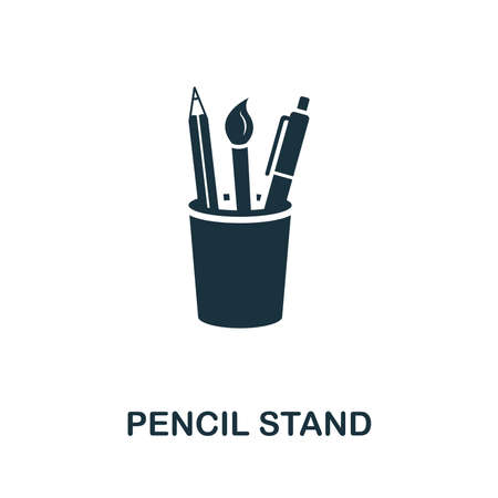 Pencil Stand vector icon symbol. Creative sign from education icons collection. Filled flat Pencil Stand icon for computer and mobile