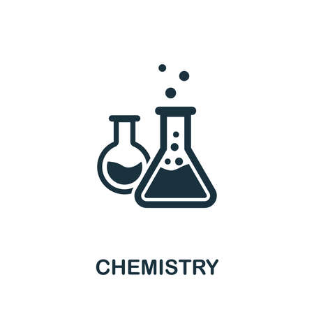 Chemistry vector icon symbol. Creative sign from education icons collection. Filled flat Chemistry icon for computer and mobile
