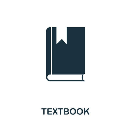 Textbook vector icon symbol. Creative sign from education icons collection. Filled flat Textbook icon for computer and mobile Zdjęcie Seryjne - 128881560