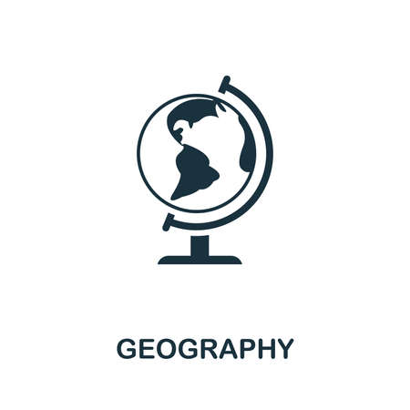 Geography vector icon symbol. Creative sign from education icons collection. Filled flat Geography icon for computer and mobile Ilustracja