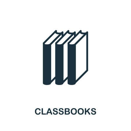 Classbooks vector icon symbol. Creative sign from education icons collection. Filled flat Classbooks icon for computer and mobile
