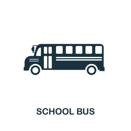 School Bus vector icon symbol. Creative sign from education icons collection. Filled flat School Bus icon for computer and mobile Zdjęcie Seryjne - 128881565