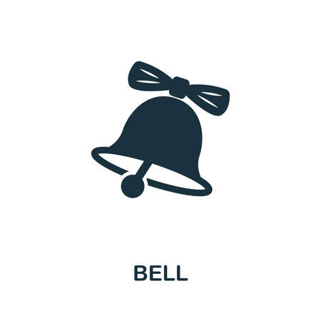 Bell vector icon symbol. Creative sign from education icons collection. Filled flat Bell icon for computer and mobile Zdjęcie Seryjne - 128881563