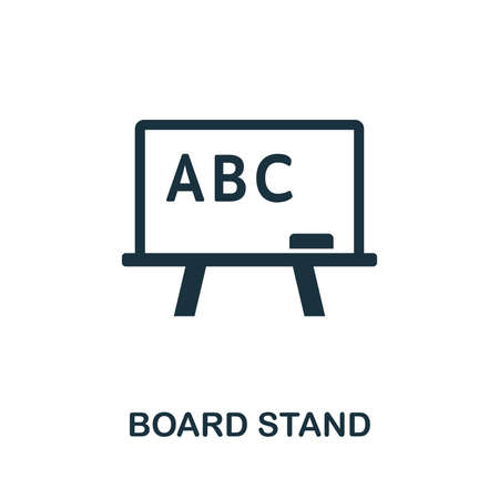 Board Stand vector icon symbol. Creative sign from education icons collection. Filled flat Board Stand icon for computer and mobile Zdjęcie Seryjne - 128881569