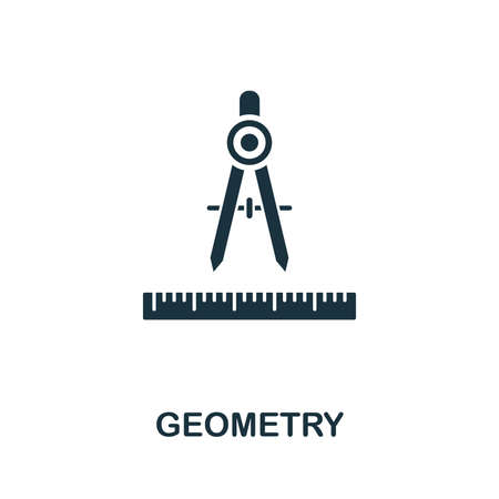 Geometry vector icon symbol. Creative sign from education icons collection. Filled flat Geometry icon for computer and mobile Zdjęcie Seryjne - 128881575