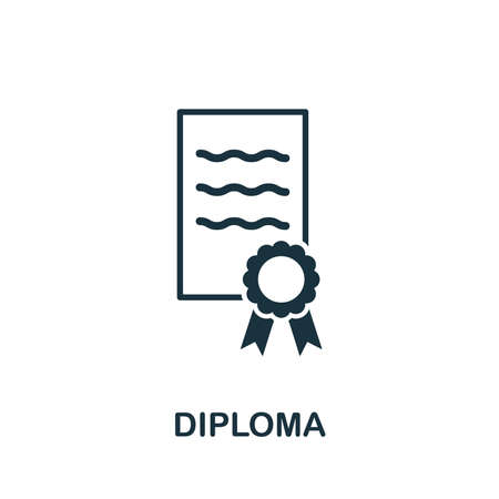 Diploma icon vector illustration. Creative sign from education icons collection. Filled flat Diploma icon for computer and mobile.